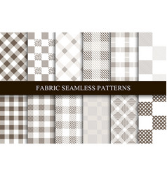 collection textile seamless patterns vector image