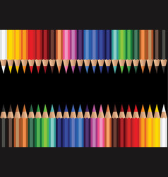 color pencil background vector image
