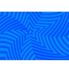 Deep blue twisted stars abstract background vector