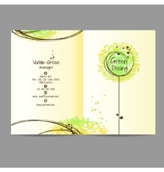 Design booklet with floral ornament vector