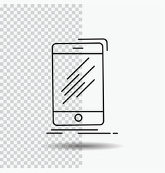device mobile phone smartphone telephone line vector image