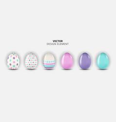 easter egg design element collection set on light vector image