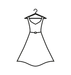 Female long dress on a hanger vector image