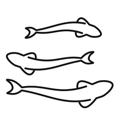 fish farm culture icon outline style vector image