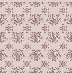 Floral seamless pattern brown ornament vector