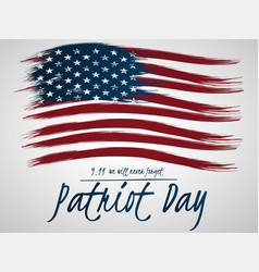 for patriot day with us flag vector image