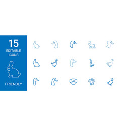 Friendly icons vector