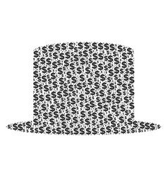 gentleman hat composition of dollar and dots vector image