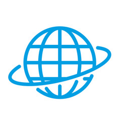 global world sign vector image