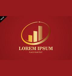 gold business finance stock arrow logo vector image