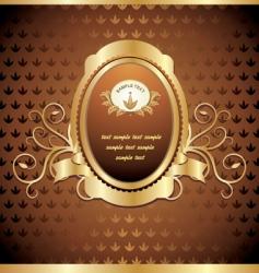 gold emblem vector image