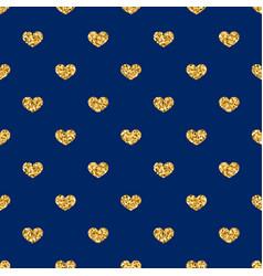 gold heart seamless pattern golden geometric vector image