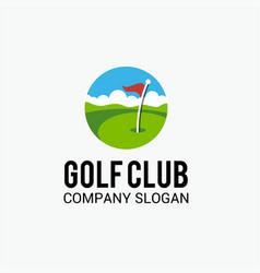 Golf club 2 logo template vector