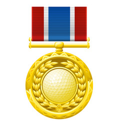 golf medal vector image