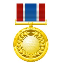 Golf medal vector