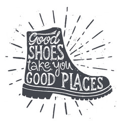 Good shoes places vector