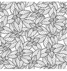 Graphic oregano pattern vector