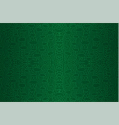 green seamless linear pattern looks like leather vector image