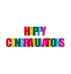 Happy congratulations template design vector