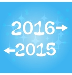 Happy new year 2016 2015 vector image