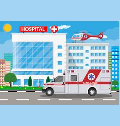 hospital building medical icon vector image vector image