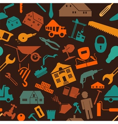 House repair and construction background vector image
