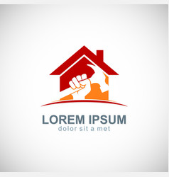 House work maintenance logo vector