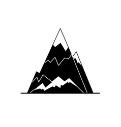 ice mountain peak silhouette icon in flat style vector image