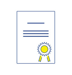 Icon of diploma vector