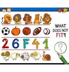 Improper element task for kids vector