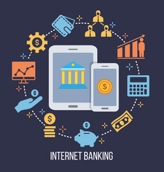 internet banking money transfer financial vector image