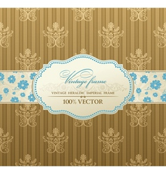 Invitation vintage label vector frame vector