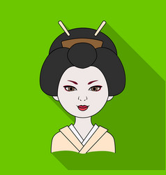 Japanesehuman race single icon in flat style vector