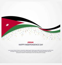 Jordan happy independence day background vector
