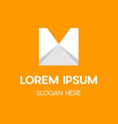 Letter m paper creative business logo vector