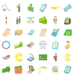 loading icons set cartoon style vector image