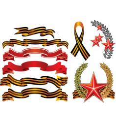 military decoration style ribbons vector image
