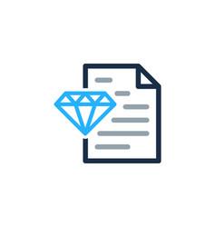 Paper diamond logo icon design vector