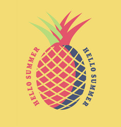 pineapple graphic vector image