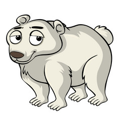 polar bear with sad face vector image