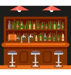 Pub Bar Restaurant Cafe Symbol Alcohol Beer House vector image