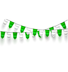 realistic bunting 3d flag st patrick day vector image