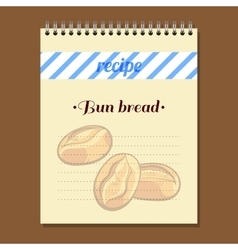 Recipe Book Bun Bread vector