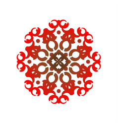 red mandala pattern vector image