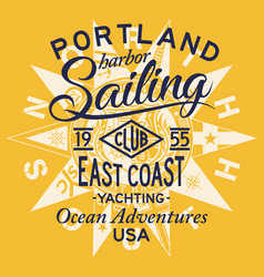 sailing east coast yacht club vector image