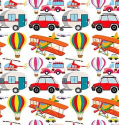 Seamless different kind of transportations vector