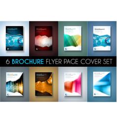 Set of 8 Brochures templates Flyer Designs or vector image