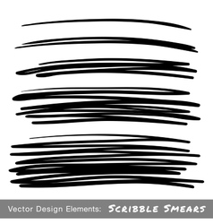Set of hand drawn scribble smears vector