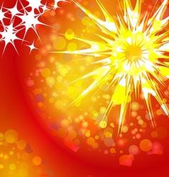 Shining Star Christmas vector image