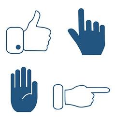 Social media hand icons vector